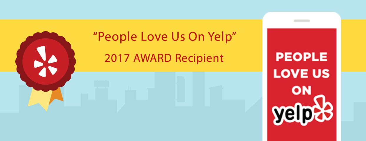 People Love Us Yelp 2017 Award for Waggy Walkys