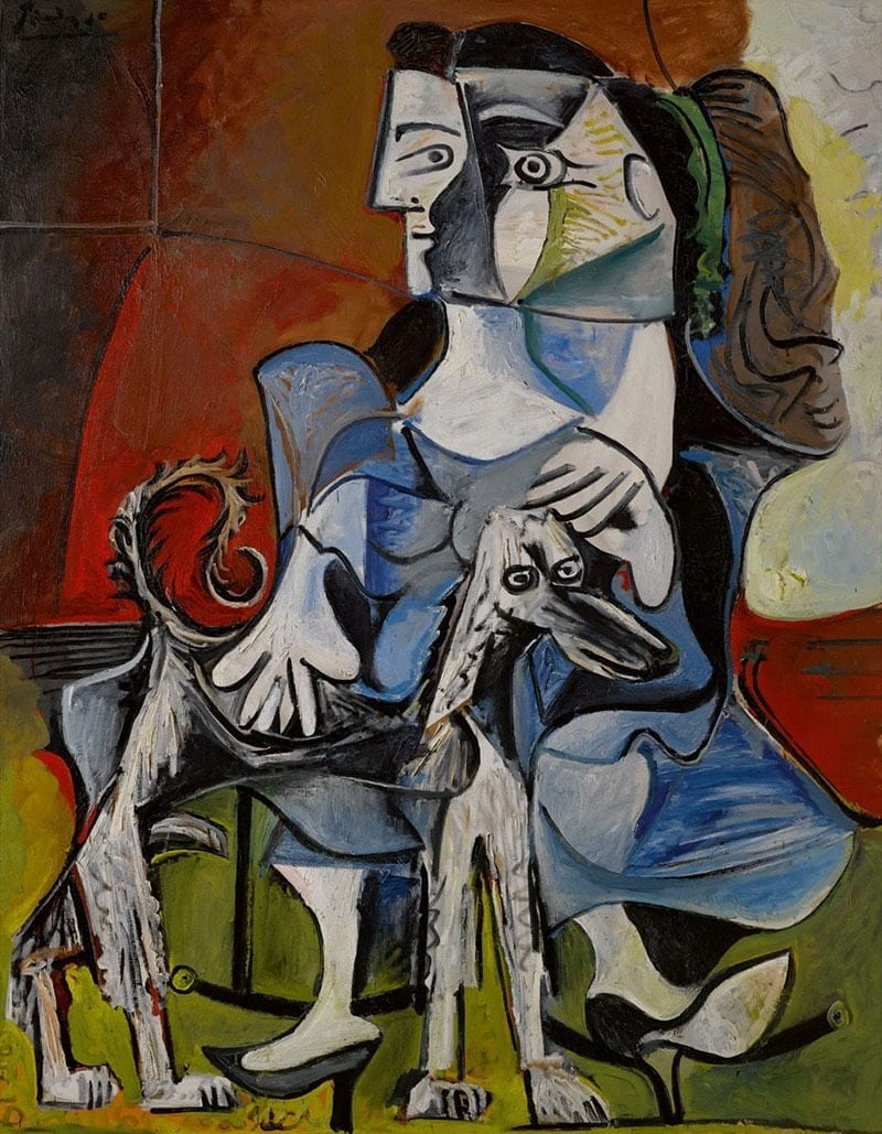 picasso-woman-and-dog